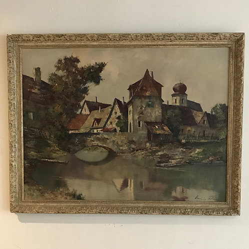 Oil on Board Signed Ludwig Klein