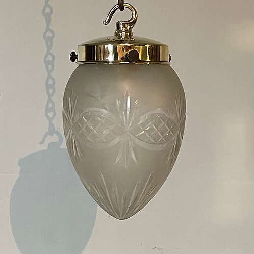 Edwardian Glass Pendant Light