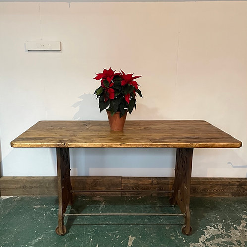 Cast Iron Base Dining Table