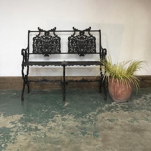 Vintage Cast Aluminium 2 seater Garden Bench