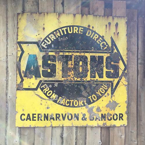 Astons Enamel Advertising Sign
