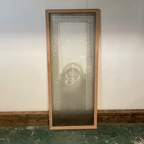 Edwardian Etched Glass Panel