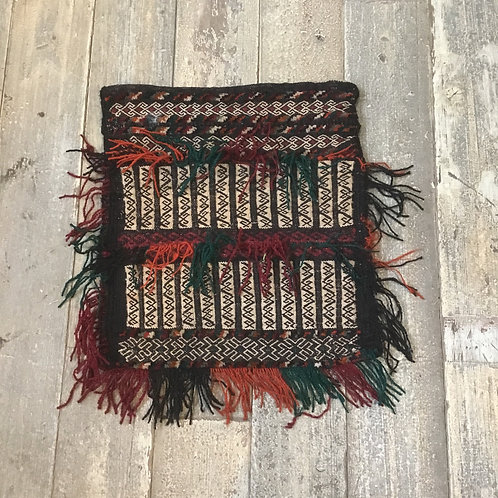 Vintage Afghan 100% Wool Saddlebag, Wall Hanging, Cushion Cover