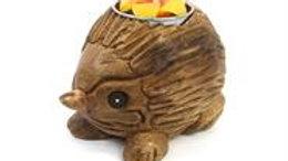 Hedgehog Carved T Light Holder