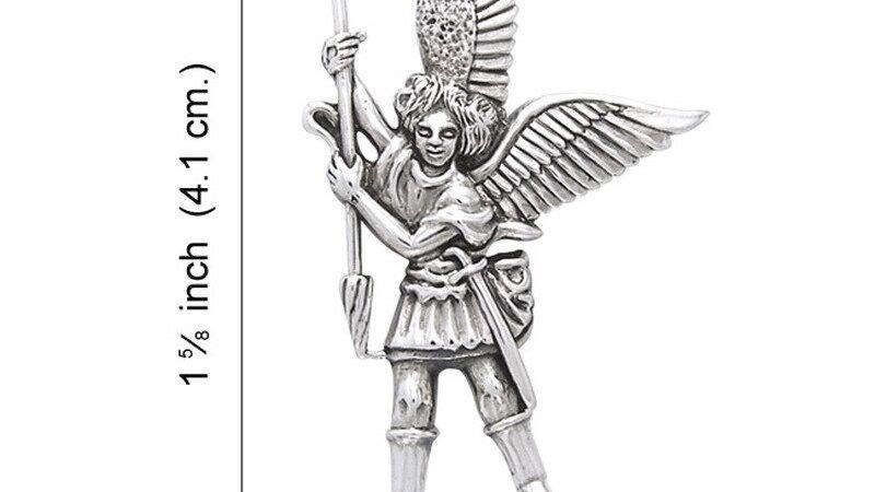 Archangel Michael Sterling Silver Pendant