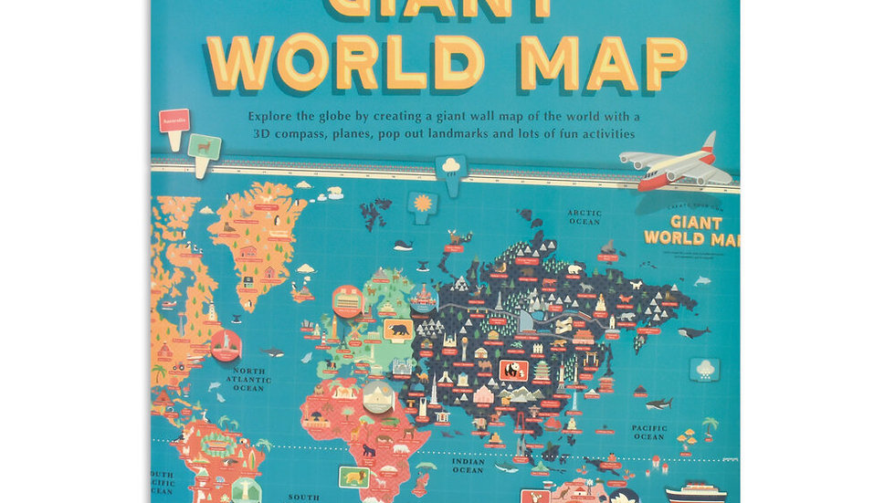 Giant World Map Clockwork Soldier