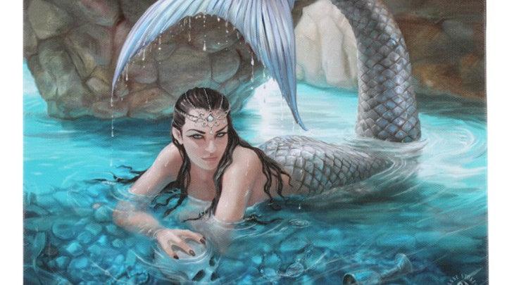 Hidden Depths Anne Stokes Canvas Picture 25cm X 19cm
