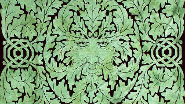 Green Man Bedspread, Rug & Wallhanging