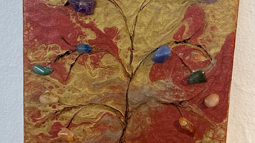 Red Gold Chakra Tree
