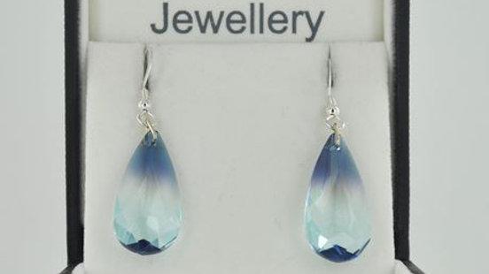 Tear Drop Earrings Ocean Blue