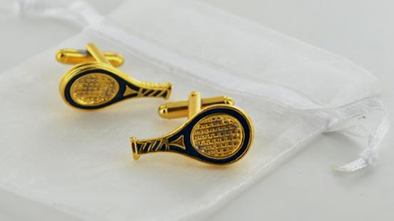 Tennis Racket Cufflinks