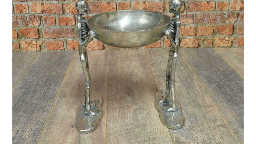 Aluminium 2 Skeleton with 1 Bowl Facing Each Other