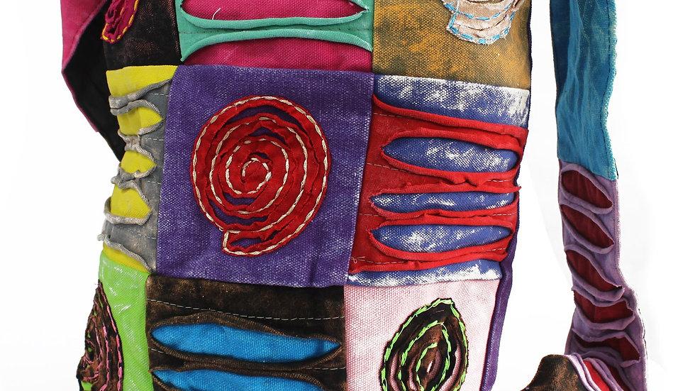 Ethnic Purple Sling Bag