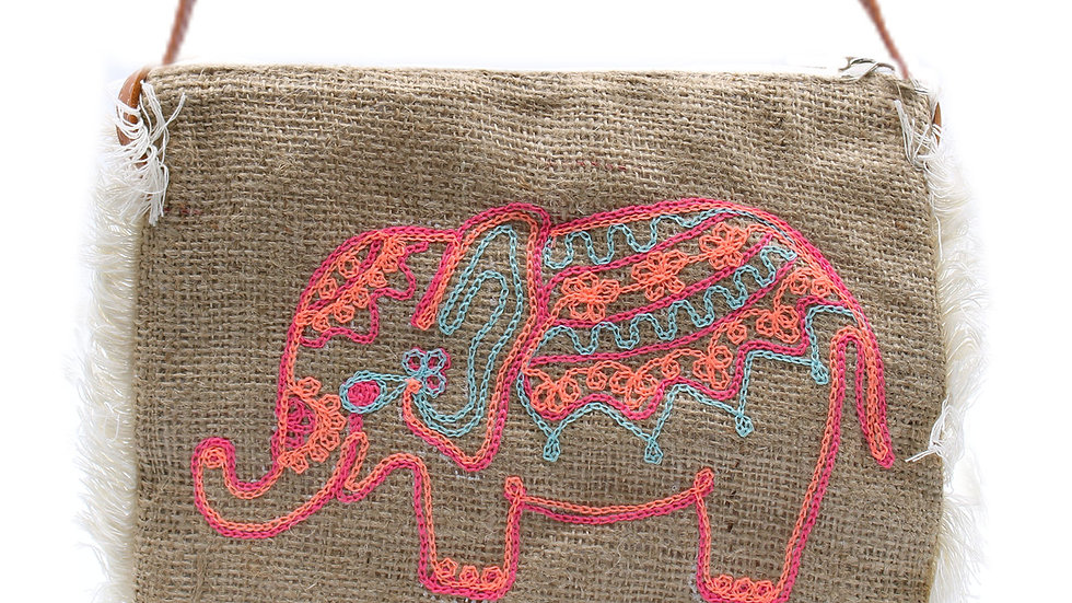 Elephant Fringe Bag