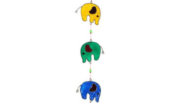 String of Elephants Suncatcher