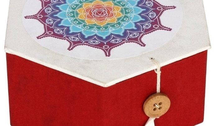 Coloured Chakra Symbols Boxed Singing Bowl