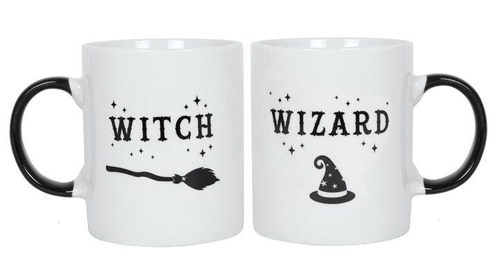Witch & Wizard Mug Set