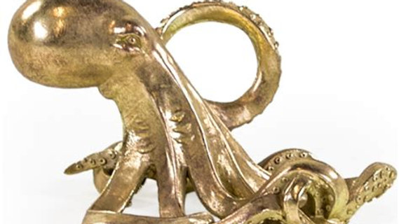 Gold Octopus Bottle Holder