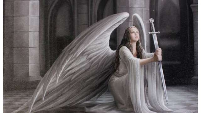 The Blessing Anne Stokes Canvas Picture 25cm X 19cm