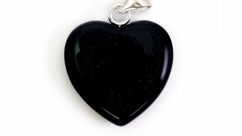 Dark Blue Goldstone Pendant