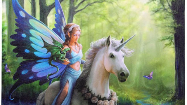 Realm Of Enchantment Anne Stokes Canvas Picture 25cm X 19cm