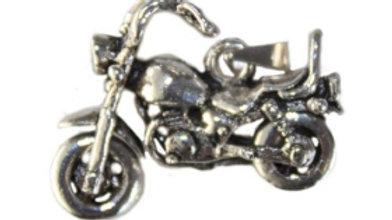 Silver Harley High Handlebar Motorbike Pendant