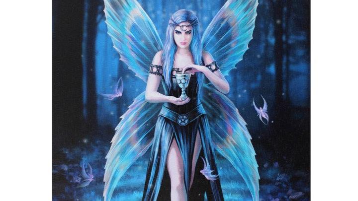 Enchantment Anne Stokes Canvas Picture 25cm X 19cm