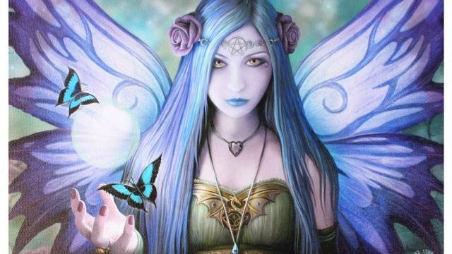 Mystic Aura Anne Stokes Canvas Picture 25cm X 19cm