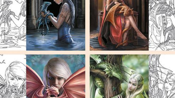 Anne Stokes Dragon Friendship Colour In Cards