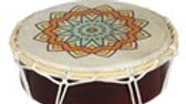 Small Patterned Shamanic Drum