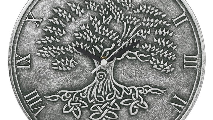 Silver Effect Tree Of Life Clock By Lisa Parker