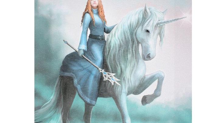 Journey Anne Stokes Canvas Picture 25cm X 19cm