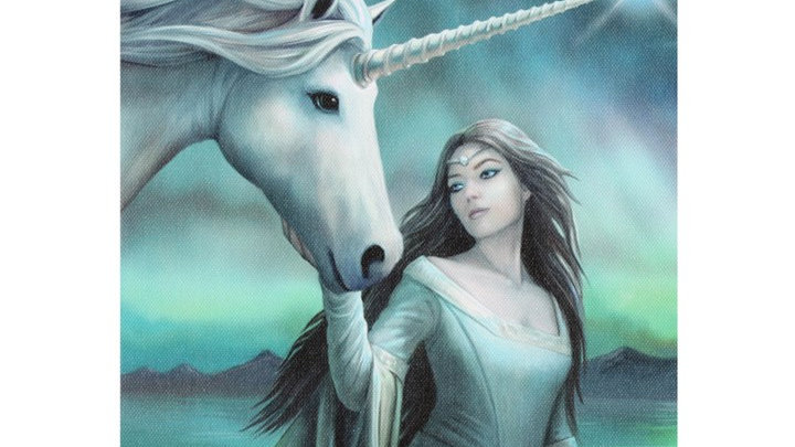 North Star Anne Stokes Canvas Picture 25cm X 19cm