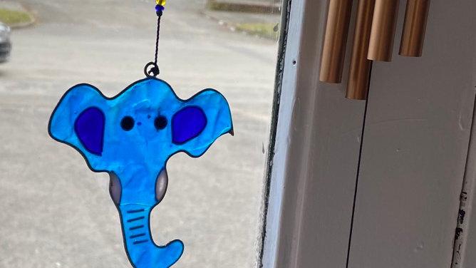 String of Elephant Head Suncatcher