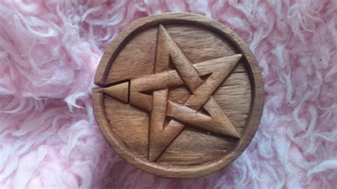 Pentagram Wooden Puzzle Box Fair Trade From Bali