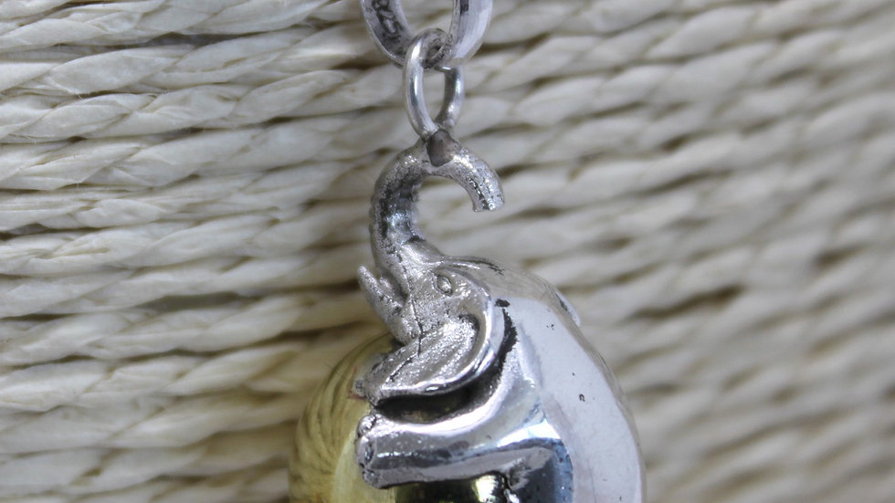 Silver Animal Bell Necklace Elephant