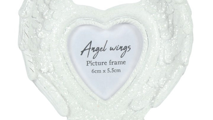 Glitter Angel Wings Picture Frame