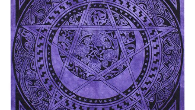 Purple Bedspread, Rug & Wallhanging