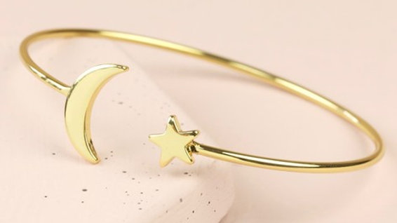Star & Moon Bangle
