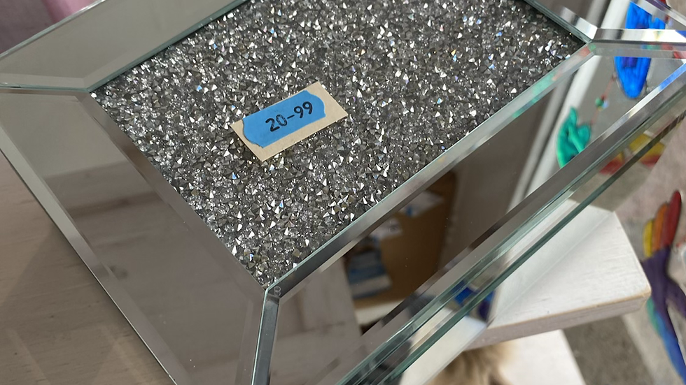 Large Crystal Jewellery Box