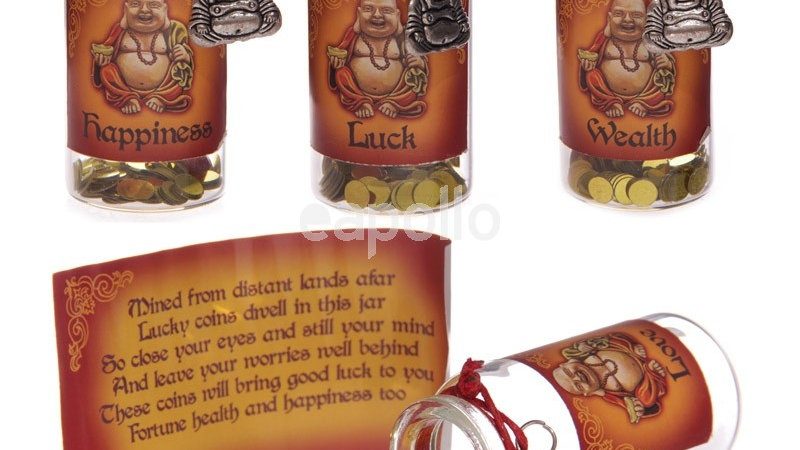 Lucky Buddha Wishes Mini Jar Wealth