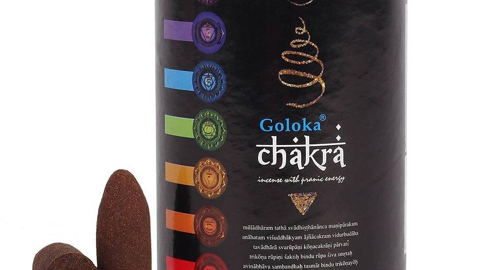 Goloka Backflow Burner Cones Chakra