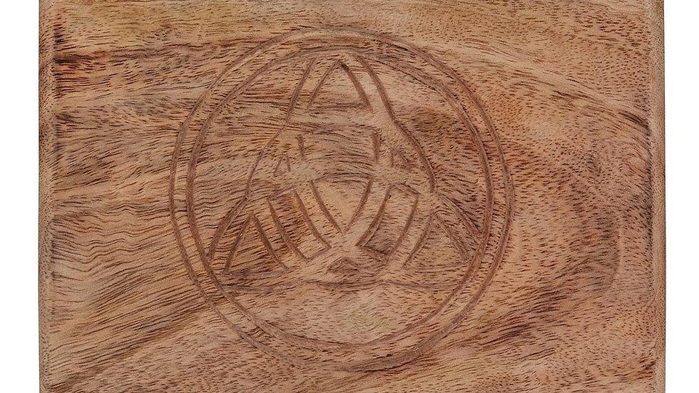 Wooden Triquetra Tarot Box