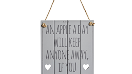 An Apple A Day Sign