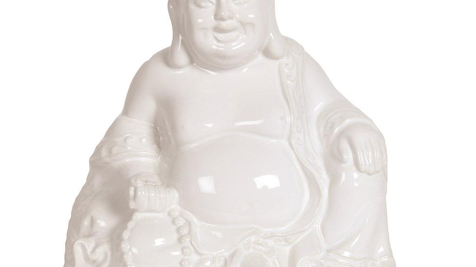 White Ceramic Buddha 20cm