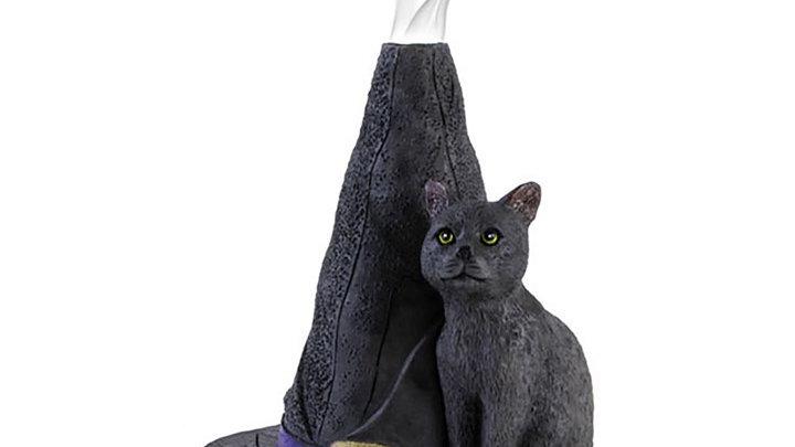 Witch Hat Cat Incense Cone Burner Lisa Parker