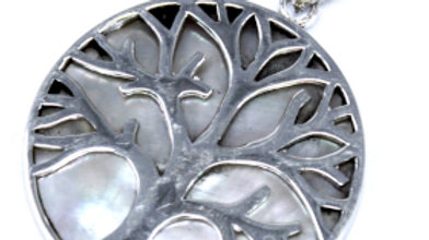 Tree of life Silver Mother Of Pearl Pendant