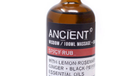 Spicy Rub Massage Oil + Bath Oil