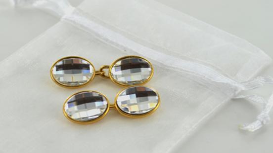Cufflinks Oval Crystal