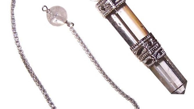 Quartz Pendulum with velvet pouch & instructions
